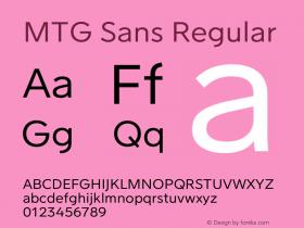 MTG Sans