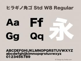 ヒラギノ角ゴ Std W8