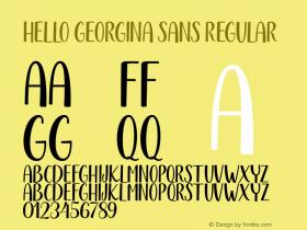 Hello Georgina Sans