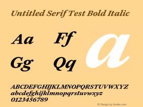 Untitled Serif Test