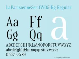 LaParisienneSerifW05-Rg