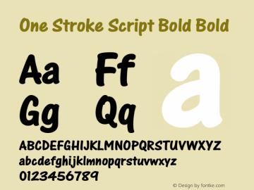 One Stroke Script Bold