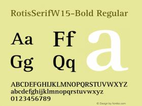 RotisSerifW15-Bold