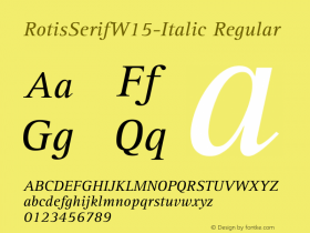 RotisSerifW15-Italic