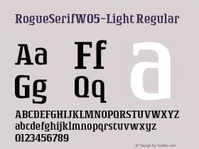 RogueSerifW05-Light