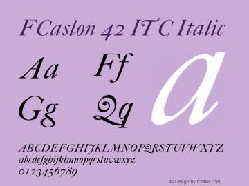 FCaslon 42 ITC