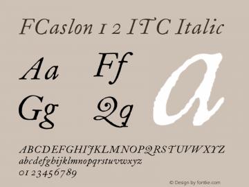 FCaslon 12 ITC
