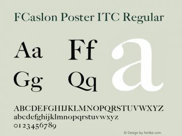 FCaslon Poster ITC