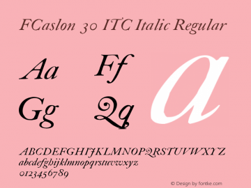FCaslon 30 ITC Italic