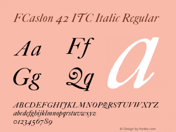 FCaslon 42 ITC Italic