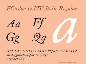 FCaslon 12 ITC Italic