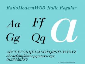 RatioModernW05-Italic