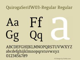 QuirogaSerifW03-Regular