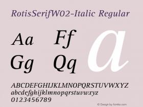 RotisSerifW02-Italic