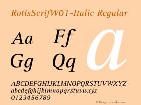 RotisSerifW01-Italic