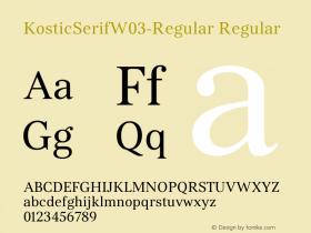 KosticSerifW03-Regular