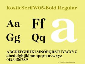 KosticSerifW05-Bold