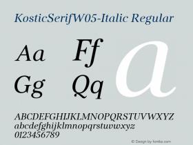 KosticSerifW05-Italic