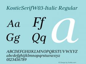 KosticSerifW03-Italic