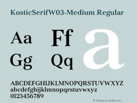 KosticSerifW03-Medium