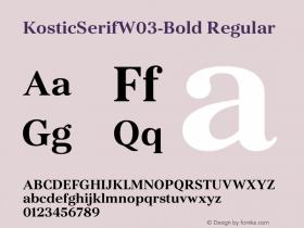 KosticSerifW03-Bold