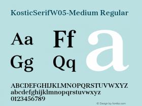KosticSerifW05-Medium