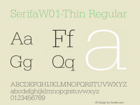 SerifaW01-Thin