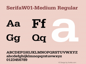 SerifaW01-Medium