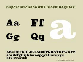 SuperclarendonW01-Black