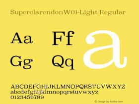 SuperclarendonW01-Light