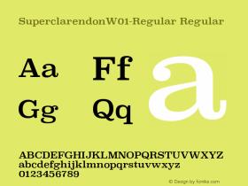 SuperclarendonW01-Regular