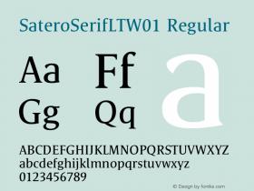 SateroSerifLTW01