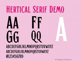 Hertical Serif