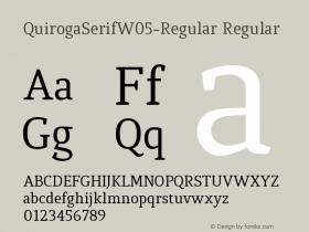 QuirogaSerifW05-Regular