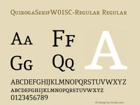 QuirogaSerifW01SC-Regular