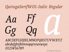 QuirogaSerifW01-Italic