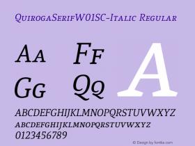 QuirogaSerifW01SC-Italic
