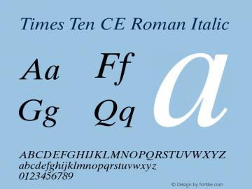Times Ten CE Roman