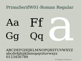 PrimaSerifW01-Roman