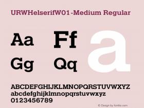URWHelserifW01-Medium