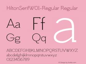 HiltonSerifW01-Regular