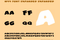 #44 Font Expanded