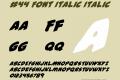 #44 Font Italic