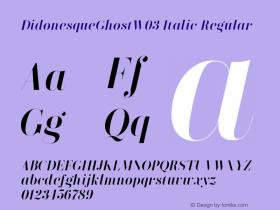 DidonesqueGhostW03-Italic