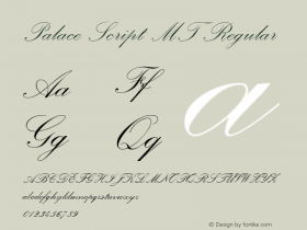 Palace Script MT