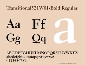 Transitional521W01-Bold