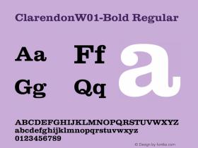 ClarendonW01-Bold