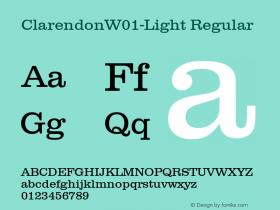 ClarendonW01-Light