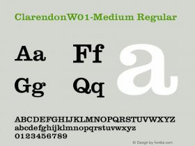 ClarendonW01-Medium