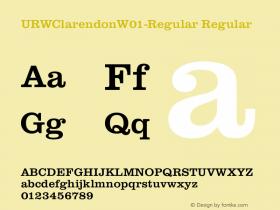 URWClarendonW01-Regular